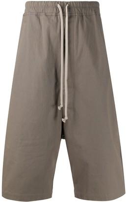 Rick Owens Drop-Crotch Tapered Shorts