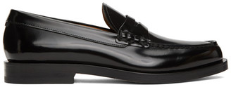 HUGO BOSS Black Patent Leather Loafers