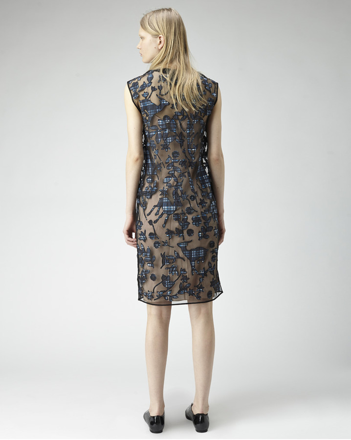 3.1 Phillip Lim sheer applique dress