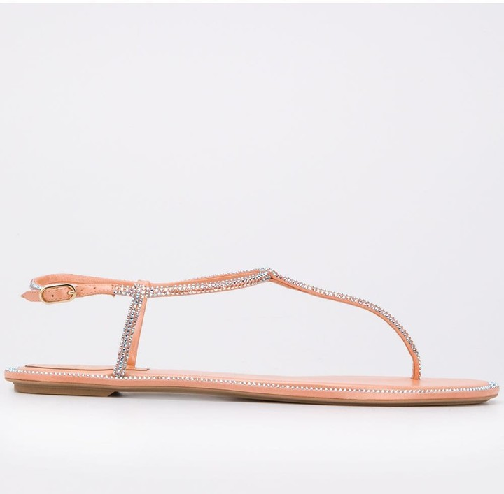 Rene Caovilla Thong Strap Sandals