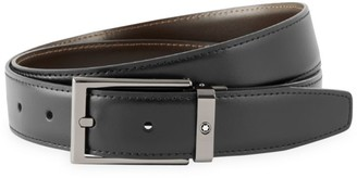 Montblanc Rectangle Buckle Leather Belt