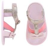 Circo Baby Girls' Bow Strap Shimmer Sandal Pink