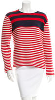 Prada Striped Scoop Neck Sweater