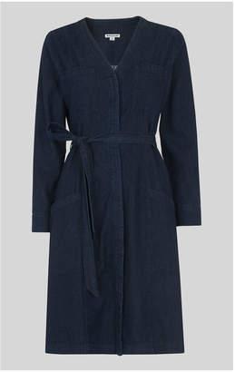 Whistles Sophie Tie Waist Denim Dress