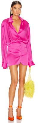 ATTICO Long Sleeve Mini Dress in Fuchsia | FWRD
