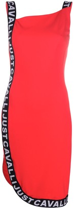 Just Cavalli Logo-Tape Bodycon Dress