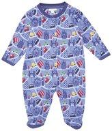 Jo-Jo JoJo Maman Bebe London Print Footie (Baby)-Blue-3-6 Months