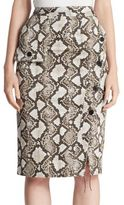 Altuzarra Curry Python-Print Pencil Skirt
