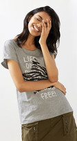 Esprit OUTLET t-shirt with sequin embroidery