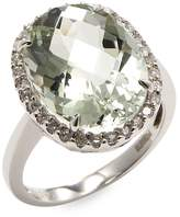 Effy Women's 14K White Gold Amethyst Ring