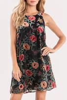 Miss Me Winter-Bloom Velvet Dress
