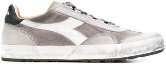 Diadora suede panelled sneakers