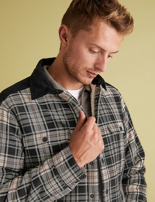 Marks and Spencer Borg Lined Check Overshirt