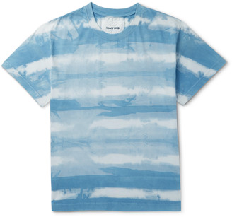 Story mfg. Printed Tie-Dyed Organic Cotton-Jersey T-Shirt