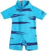 Kenzo Tiger Stripe Lycra Short Sleeve Swimsuit