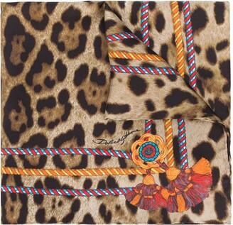 Dolce & Gabbana Leopard Cord Print Scarf