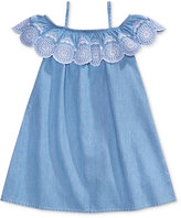 Maison Jules Mommy & Me Embroidered Denim Dress, Toddler & Little Girls (2T-6X) & Big Girls (7-16), Only at Macy's