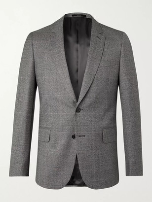 Paul Smith Prince Of Wales Checked Virgin Wool Blazer