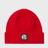 Paul Smith Women's Red Lambswool Beanie Hat