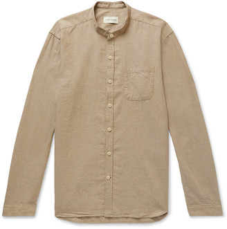 Oliver Spencer Grandad-Collar Cotton-Twill Shirt