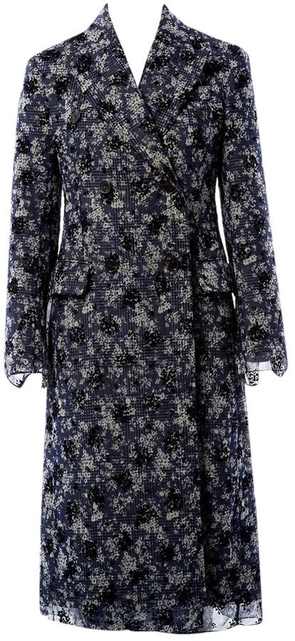 Calvin Klein Blue Cotton Coat for Women