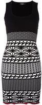 DSQUARED2 knit pattern fitted dress - women - Polyester/Viscose - S