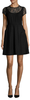 Susana Monaco Selena Lace Contrast A-Line Dress