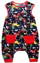BOOPH Kids Sleepsack Fleece Wearable Blanket For Baby Sleep and Play Blue Polic Car S 0-2 Years