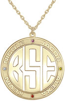 JCPenney FINE JEWELRY Personalized 14K Gold Over Sterling Silver 30mm Family Birthstone Pendant Necklace