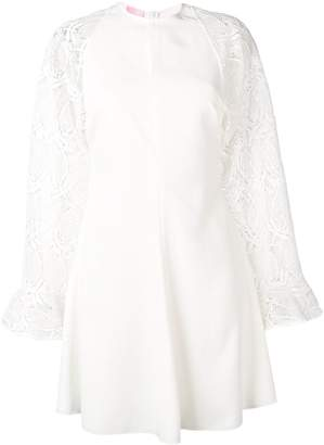 Giamba Embroidered Sleeve Dress