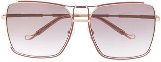 Matthew Williamson x Linda Farrow Peony squared sunglasses