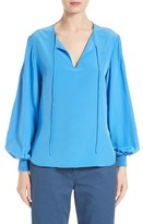 Tibi Women's Pintuck Silk Top