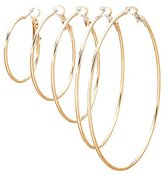 Charlotte Russe Skinny Hoop Earrings - 5 Pack