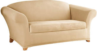 Sure Fit Stretch Faux-Suede 2-pc. Loveseat Slipcover