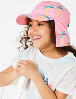 Marks and Spencer Kids' Pure Cotton Palm Tree Sun Hat (1-6 Years)
