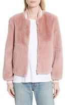Elizabeth and James Women's Genuine Rabbit Fur Bomber