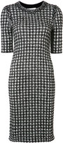 Sonia Rykiel gingham plaid tweed dress - women - Cotton/Polyamide/Viscose/Virgin Wool - S
