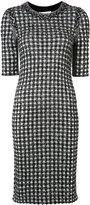 Sonia Rykiel gingham plaid tweed dress