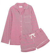 Three J NYC Phoebe Checked Cotton-flannel Pajama Set - Plum