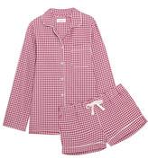 Three J NYC Phoebe Checked Cotton-flannel Pajama Set - x large