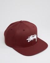 Stussy Snapback Cap Stock Logo