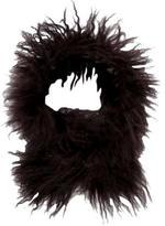 Adrienne Landau Satin-Trimmed Fur Stole