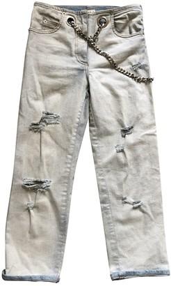 Miaou Blue Cotton - elasthane Jeans for Women
