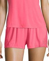 Cosabella Tamaya Lace-Inset Boxer Pajama Shorts, Paradise Pink