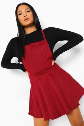 boohoo Petite Cross Back Pinafore Dress