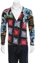 John Galliano Wool Patterned Knit Cardigan