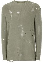 Topman Khaki Military Style Laddered Sweater