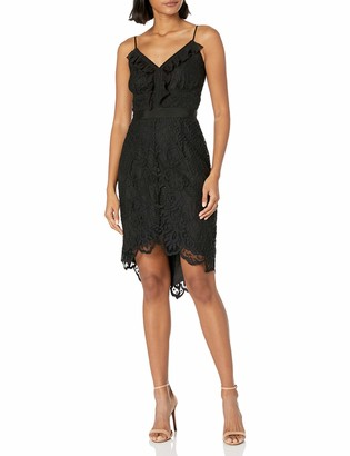 Adelyn Rae Women's Lena Woven Lace Hi-Low Sheath Dress