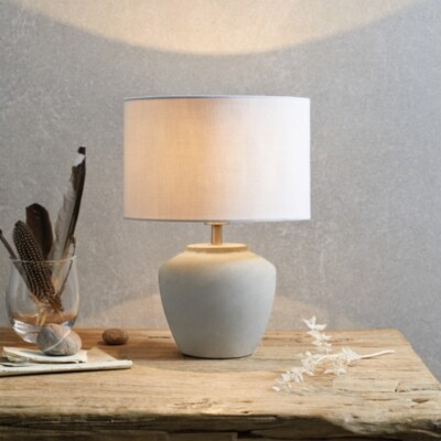 The White Company Mini Southwold Table Lamp, Stone, One Size