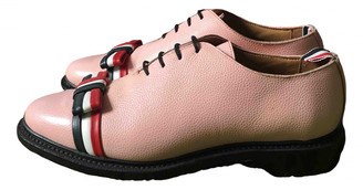 Thom Browne Pink Leather Lace ups